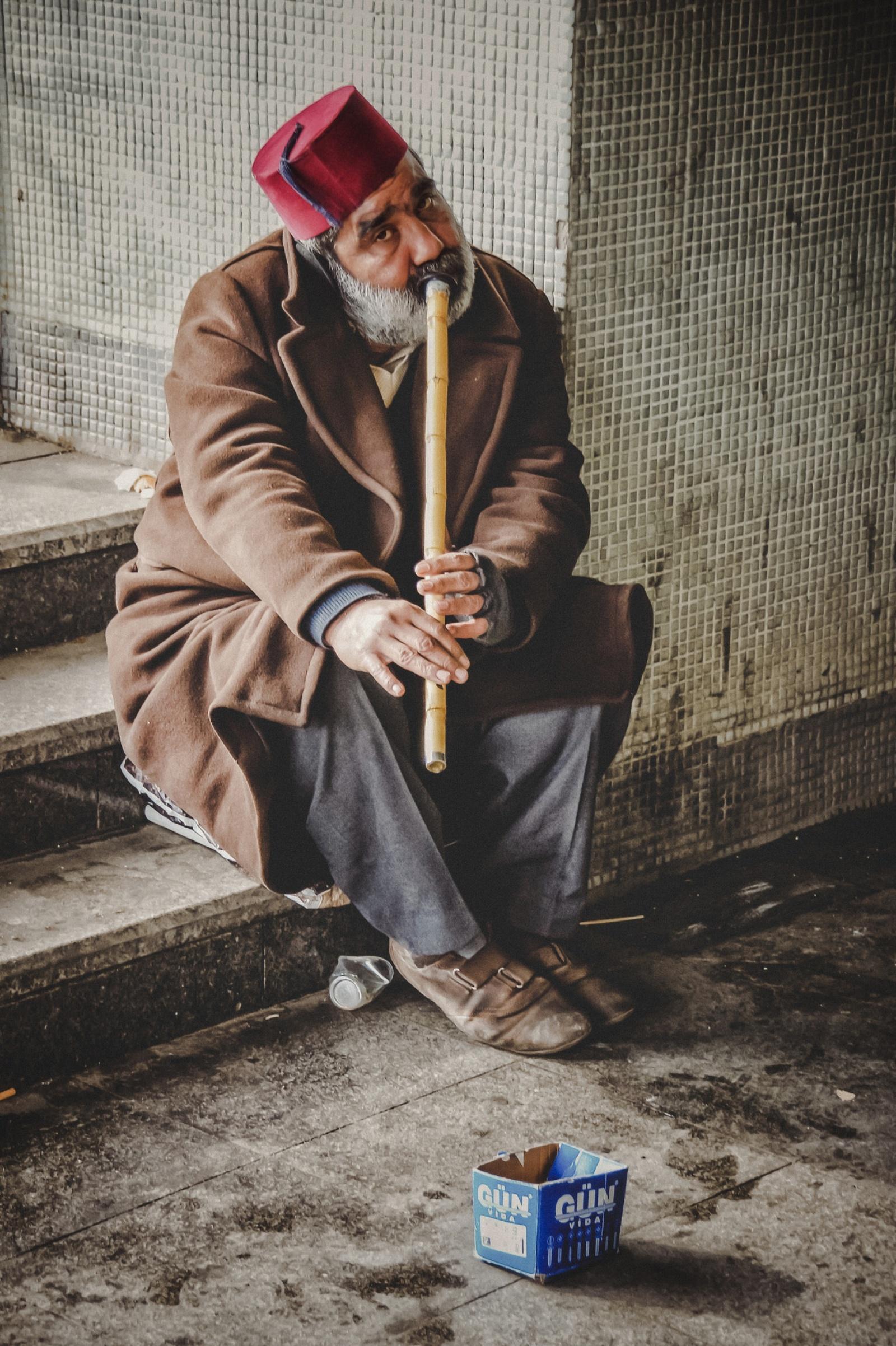 Neyzen the musician Eminönü Istanbul
