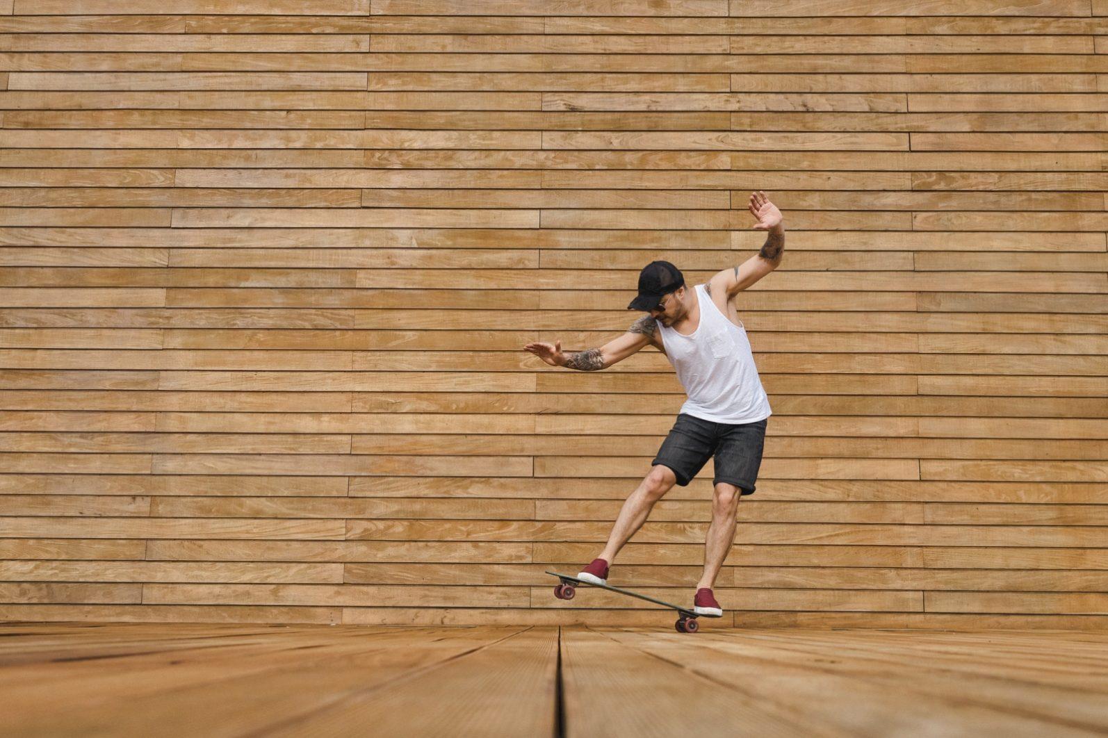 Skateboarder In Poland