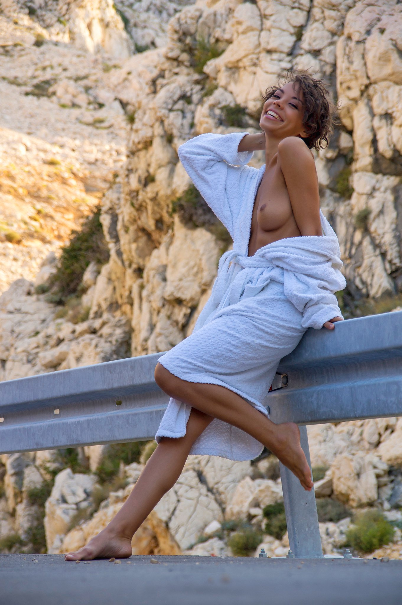 Krk, Croatia.. Nude in white..