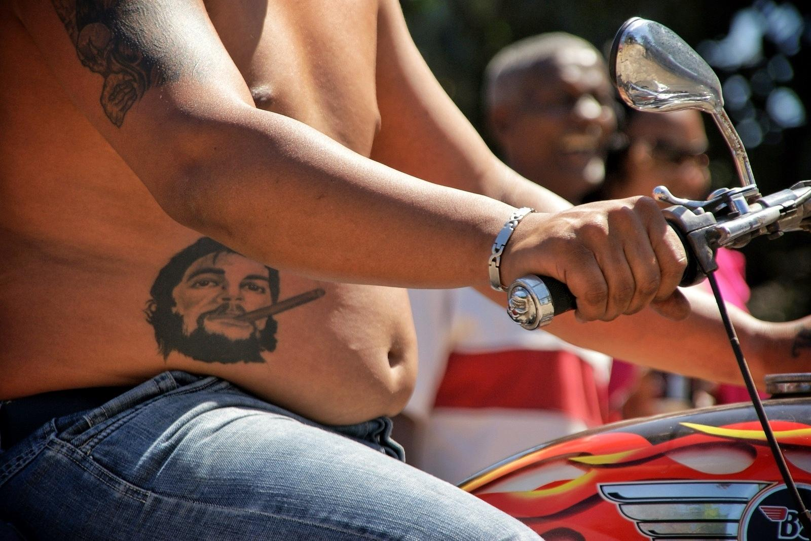 Che Tattoo and the motorcyclist