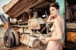 Nude Girl Abandoned truck Krk Croatia