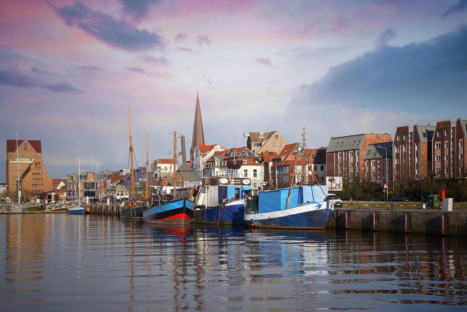 Ships Rostock Harbor