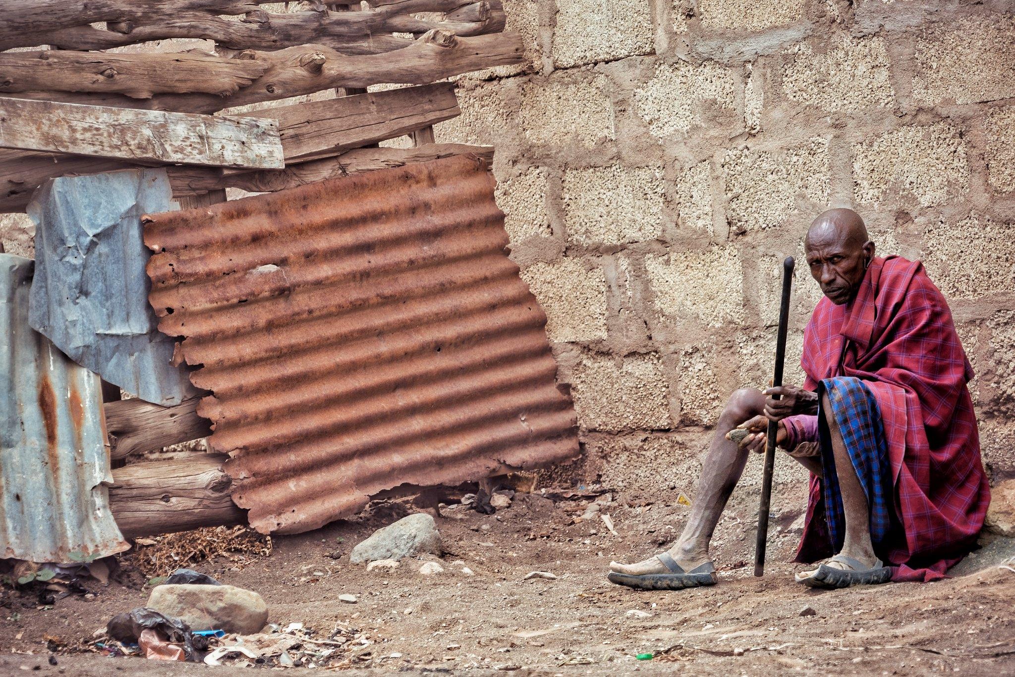 Old Maasai in Arusha