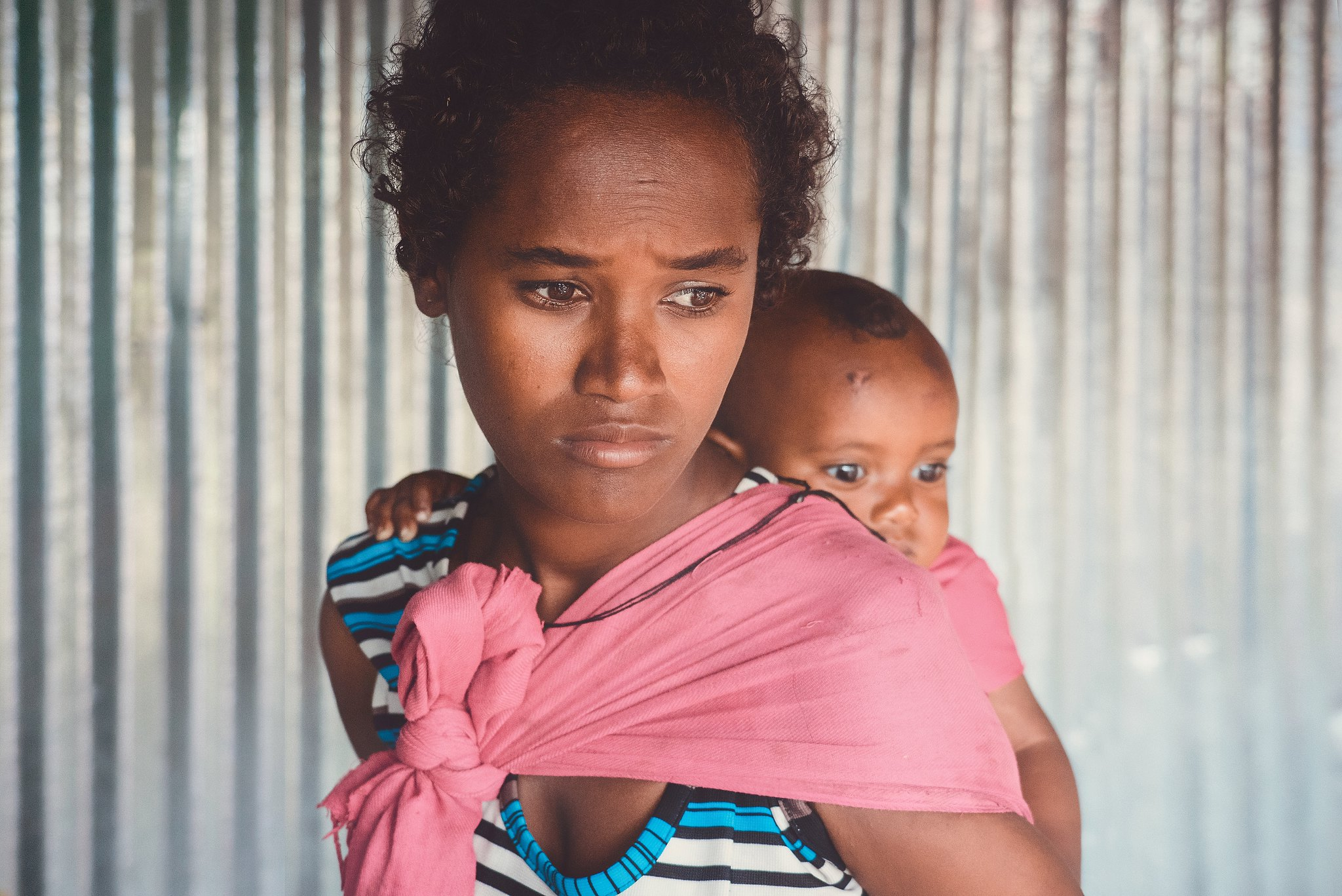 Ethiopian Mother and Her Baby