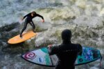 Eisbach river surfers